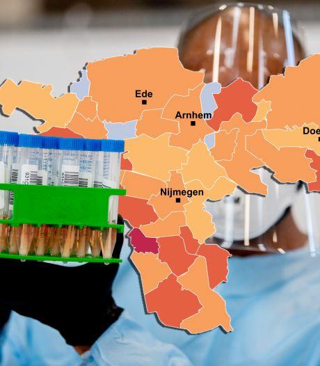 CORONAKAART | Ongekend hoge viruscijfers in Arnhem en Ede, besmettingen rijzen de pan uit