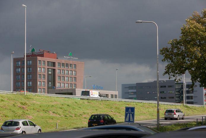 Veenendaal langs de A12 op archiefbeeld.
