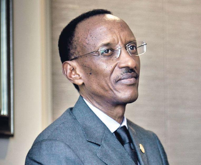 Paul Kagame: 'Als de Rwandezen me niet meer willen, vertrek ik de volgende dag.' Beeld Claire Martin/HH