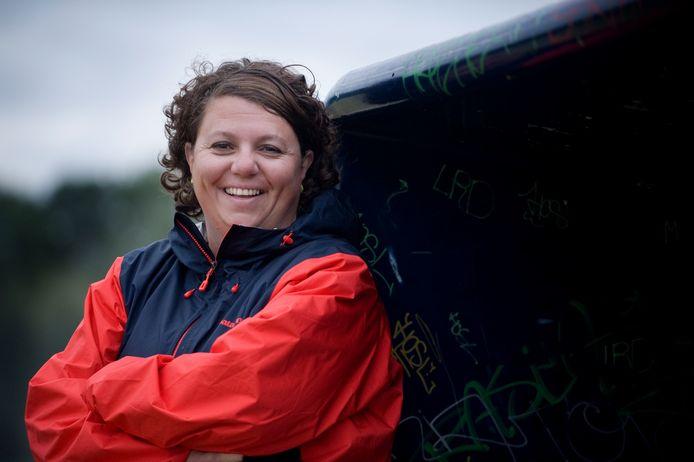 Liesbeth Kok, coach van de hockeyers van Civicum.