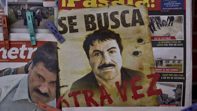 Wanted-poster van Guzman Beeld afp
