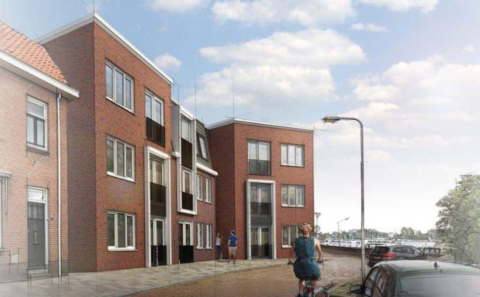 Omwonenden balen van een nieuwe 'blokkendoos' aan de Buitenhaven.