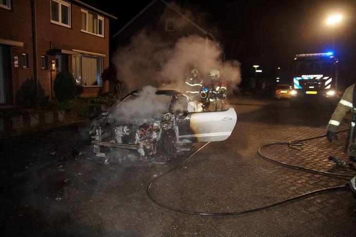 Autobrand in Nieuwkuijk
