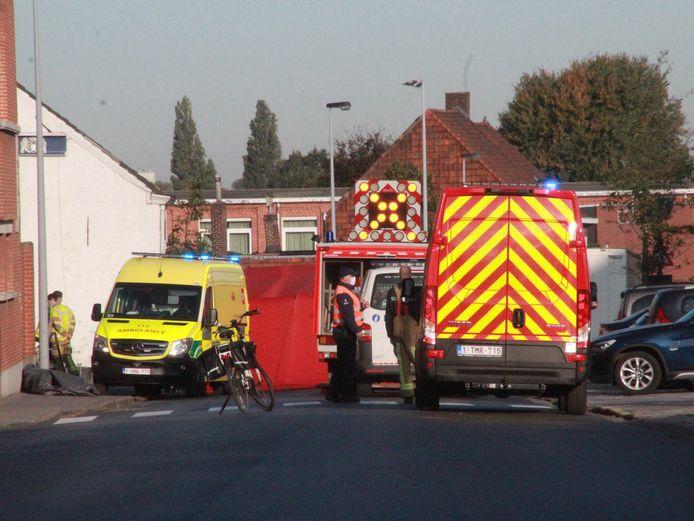 Het meisje overleed na een ongeval op de fiets in de Bekaertstraat in Zwevegem.