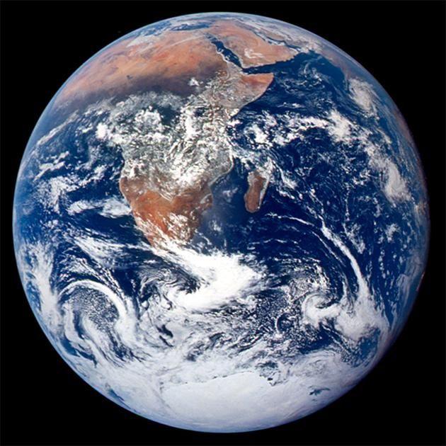 De aarde zoals Apollo 17 haar in 1972 fotografeerde