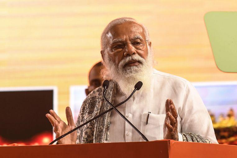 Eerste minister Narendra Modi betuigde zijn medeleven aan de slachtoffers. Beeld AFP