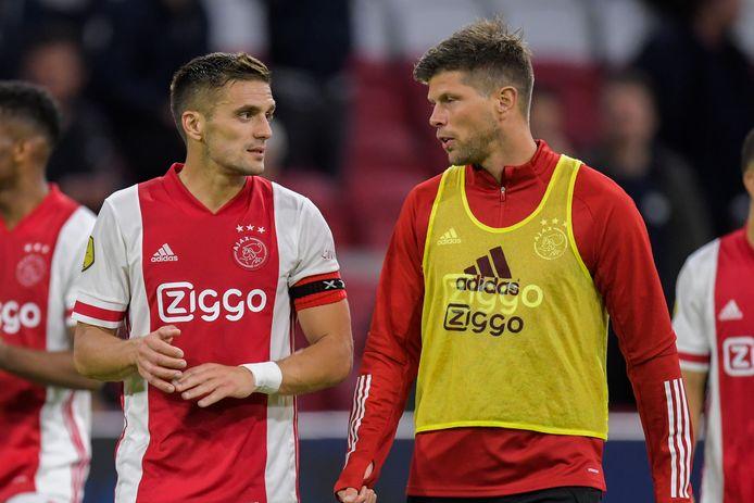 Dusan Tadic en Klaas-Jan Huntelaar.