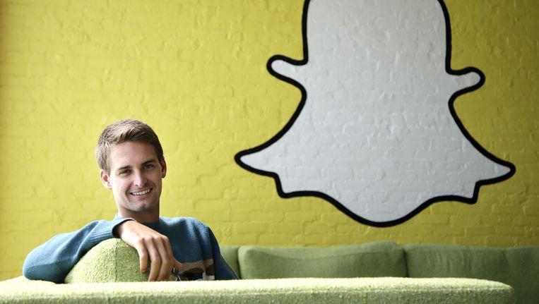 Snapchat-topman Evan Spiegel. Beeld AP