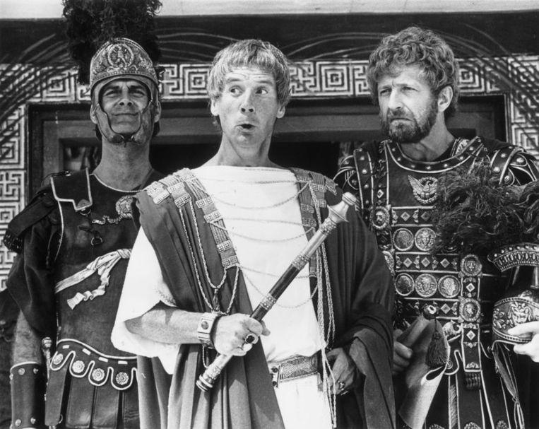 Scène uit Monty Pyton's Life of Brian. Beeld -