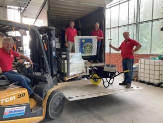 Rotary Knokke-Oostkust én gemeenteschool Zuienkerke helpen Ardennen na watersnood