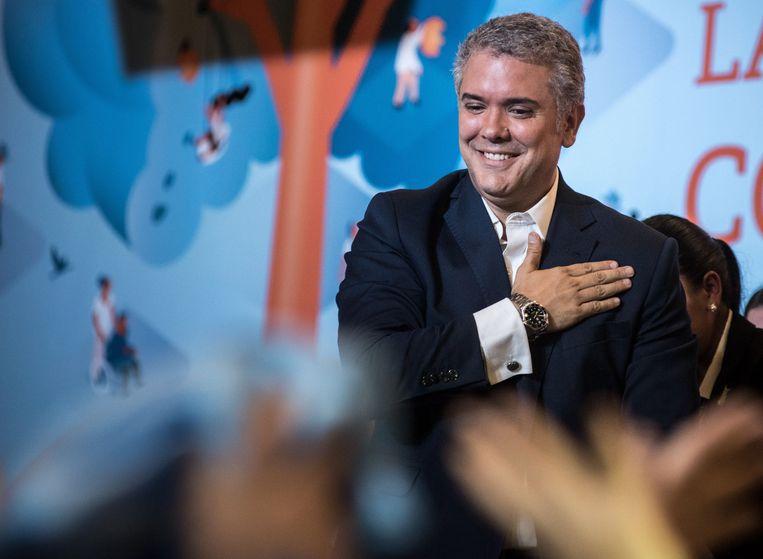 De nieuwe Colombiaanse president Iván Duque. Beeld EPA