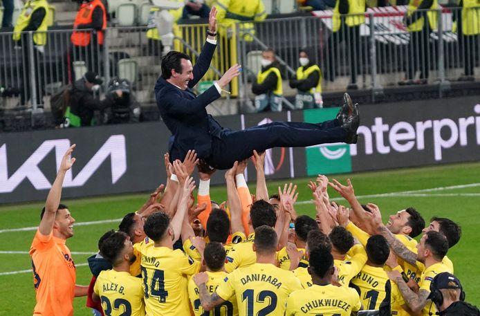 Unai Emery is de gevierde man bij Villarreal.