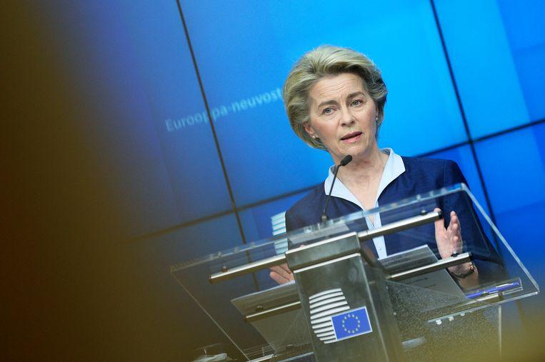 Europees Commissievoorzitter Ursula von der Leyen. Beeld EPA