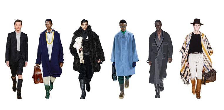 Vanaf links: Salvatore Ferragamo, Lanvin, Dolce & Gabbana, Prada, Fendi, Etro Beeld Imaxtree