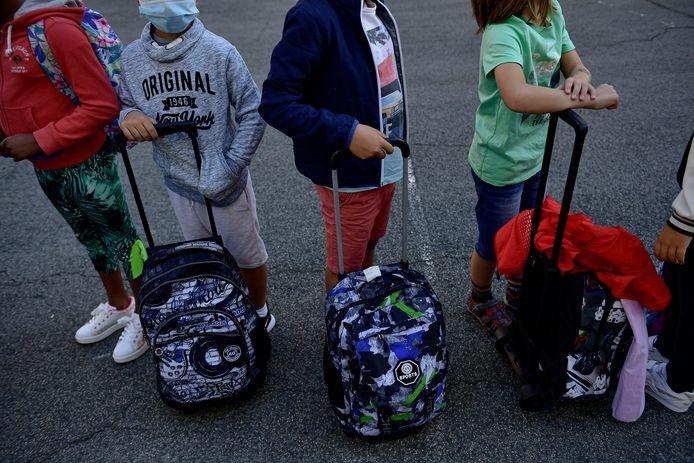 Spanje verplichtte eind augustus al mondmaskers op de lagere school. (archieffoto)
