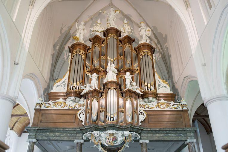 Het Hinsz-orgel in de Martinikerk in Bolsward. Beeld Annabel Miedema