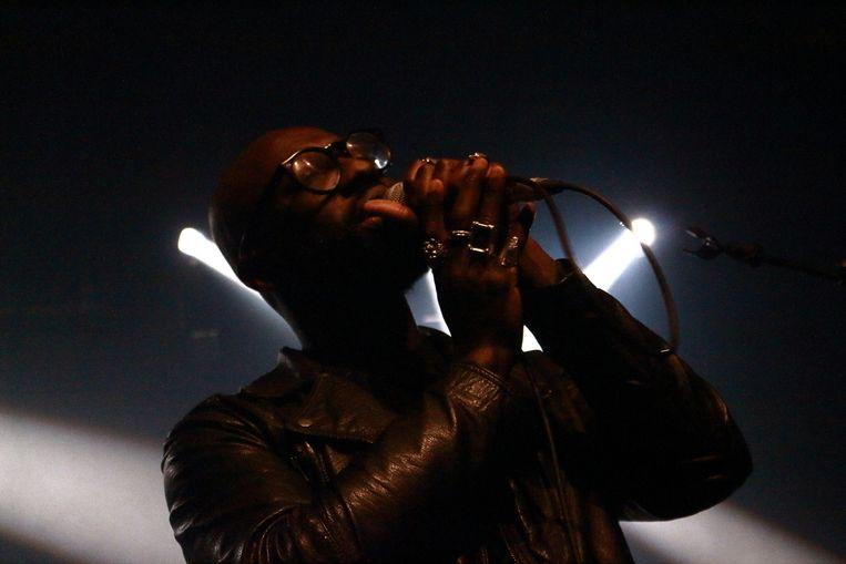 Rapper Ghostpoet, die op zijn nieuwe cd samenwerkt met Melanie De Biasio. Beeld Johanna Rose