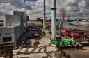 Er is nog veel te doen op het terrein van de voormalige Afval Verbrandingsinstallatie Rijnmond (AVR) voor het de eerste gasten kan ontvangen.