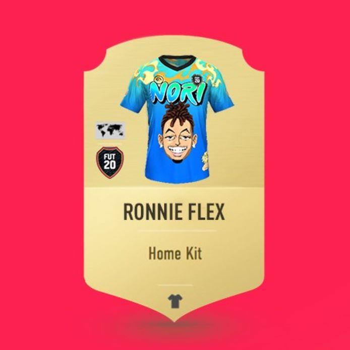 Ronnie Flex mocht zelf het tenue ontwerpen waar zijn droomelftal mee speelt in FIFA 20. Als spelers goed genoeg presteren tegen zijn team, spelen ze het tenue ook vrij voor hun eigen team