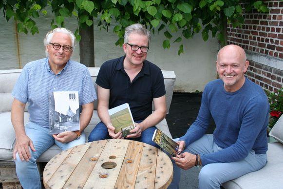Roland Vanderstukken, Kris Merckx en Toni Coppers (rechts) in 'De Goddelijke Zaligmaker' in Hakendover
