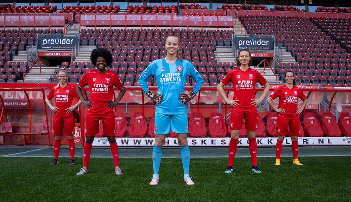 De vrouwen van FC Twente spelen vanaf komend seizoen met Future of Twente op hun shrt.