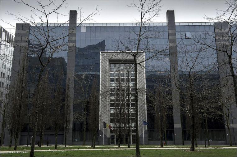 Het hoofdkwartier van de Staatsveiligheid in Brussel. Beeld photo_news