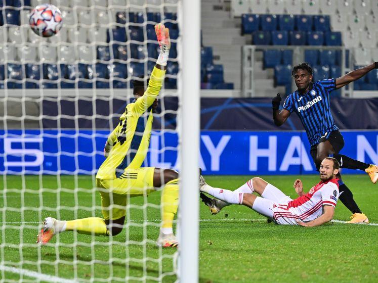 Zapata maakt tweede goal en zet Atalanta naast Ajax