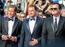 Brad Pitt, Leonardo DiCaprio et Quentin Tarantino