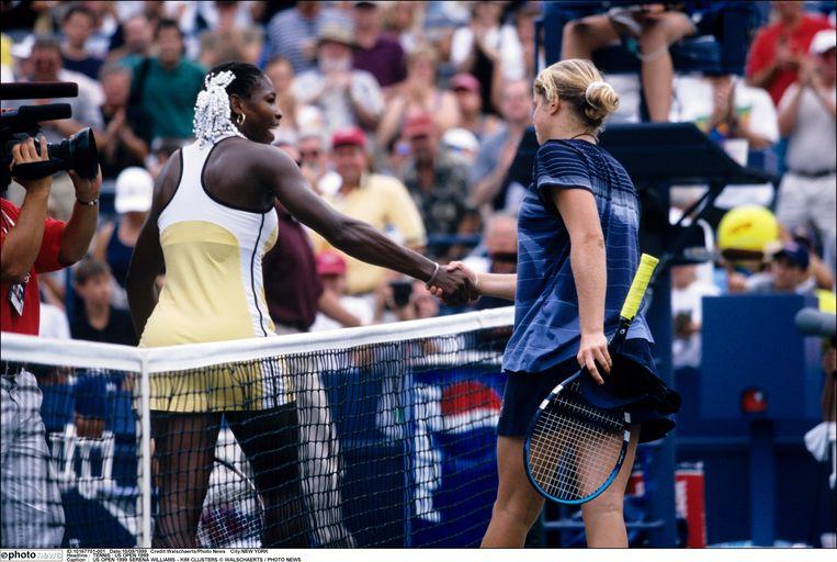 Op weg naar haar eerste grandslamtriomf versloeg Serena onder meer Kim Clijsters.