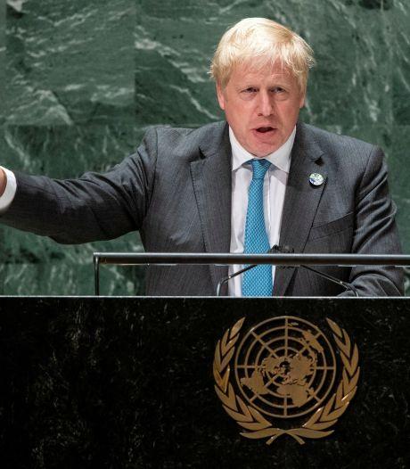 Boris Johnson waarschuwt voor klimaatramp in kleurrijke VN-toespraak