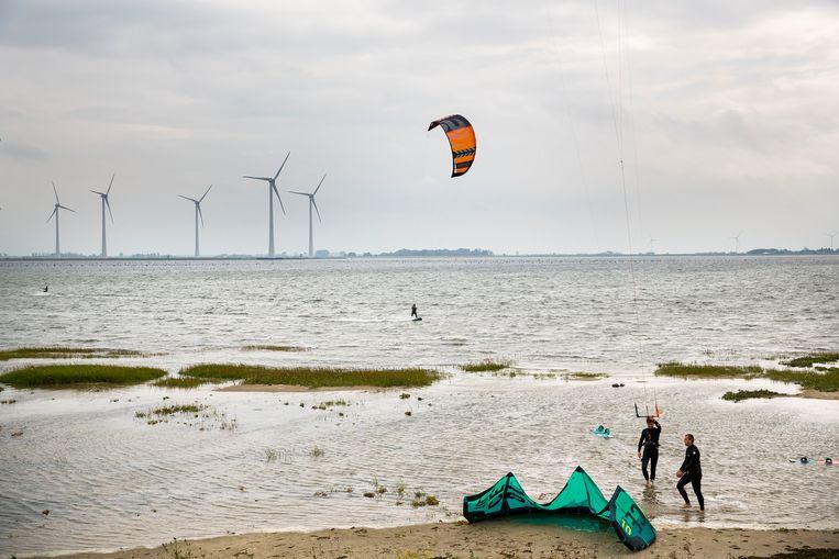 Het strand van Goeree-Overflakkee Beeld Arie Kievit, HH