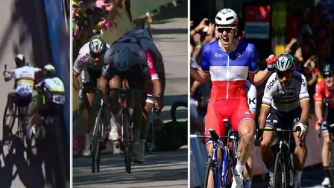 HERBELEEF: Démare pakt etappe, Sagan gediskwalificeerd na elleboogstoot