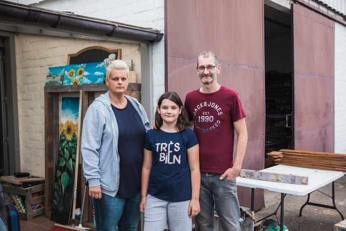 Cindy wil het beste voor haar ex-man Staf en haar kinderen Hanne (10, foto) en Seppe (14). Als de woning omgebouwd is, kan haar man dicht bij de kinderen blijven.