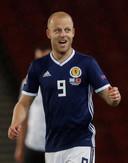 Steven Naismith scoorde twee keer namens Schotland tegen Albanië.