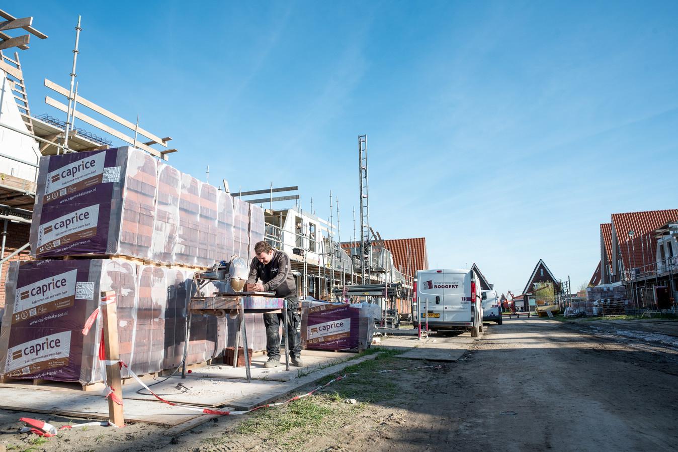 Jaarlijks worden er op Schouwen-Duiveland zo'n 80 woningen bijgebouwd. De nadruk ligt daarbij op centrumplaats Zierikzee, zoals hier in de wijk Noorderpolder.