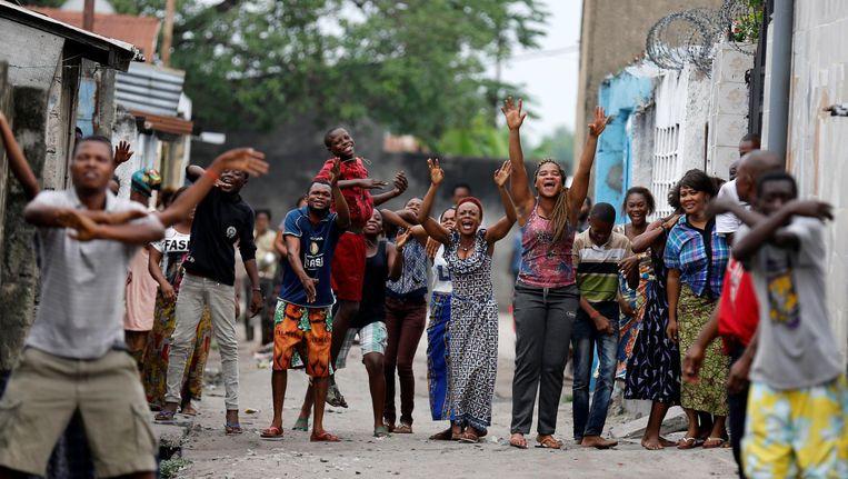 Congolezen protesteren tegen president Kabila in Kinshasa, eerder deze week. Beeld reuters