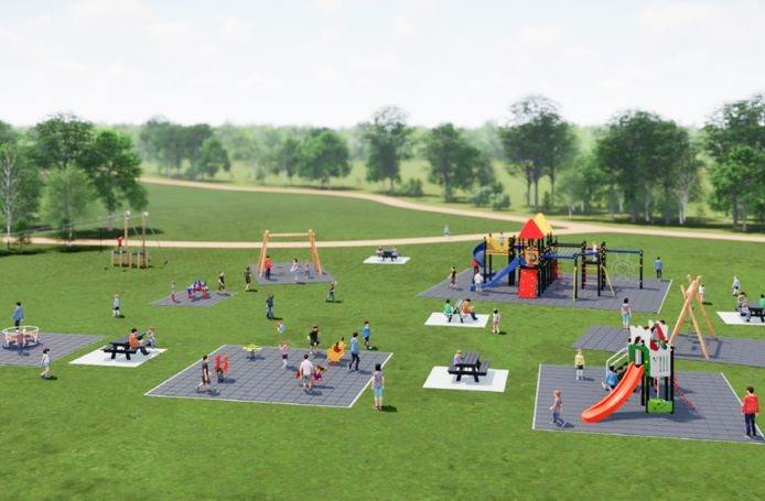 Zo ziet de nieuwe speeltuin voor De Rijdt eruit.
