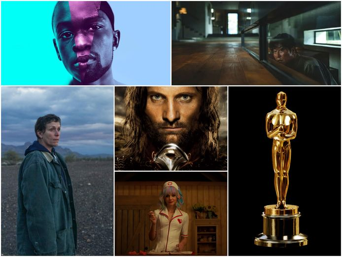 Moonlight, Parasite, Nomadland, The Lord of the Rings: The Return of the King en Promising Young Woman.