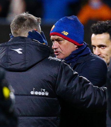 """José Mourinho sort la sulfateuse après le naufrage de la Roma: """"Leur équipe A est meilleure que notre équipe B"""""""