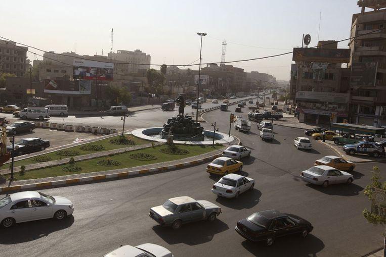 Straatbeeld in Bagdad, Irak (Reuters) Beeld