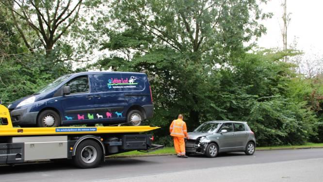 Busje van uitlaatservice 'Lekker Los!' botst op auto in Lelystad, bestuurder en hond met de schrik vrij