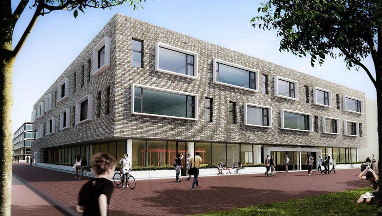 Een impressie van het nieuwe Cburg College op het Zeeburgereiland. Beeld Cburg College