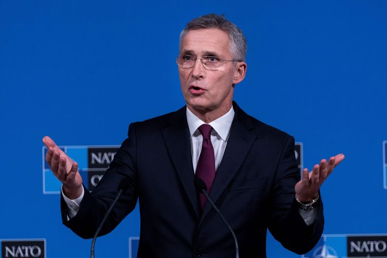 NAVO-baas Jens Stoltenberg. Beeld AFP