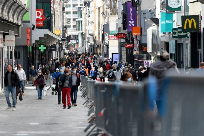 La Rue Neuve à Bruxelles.
