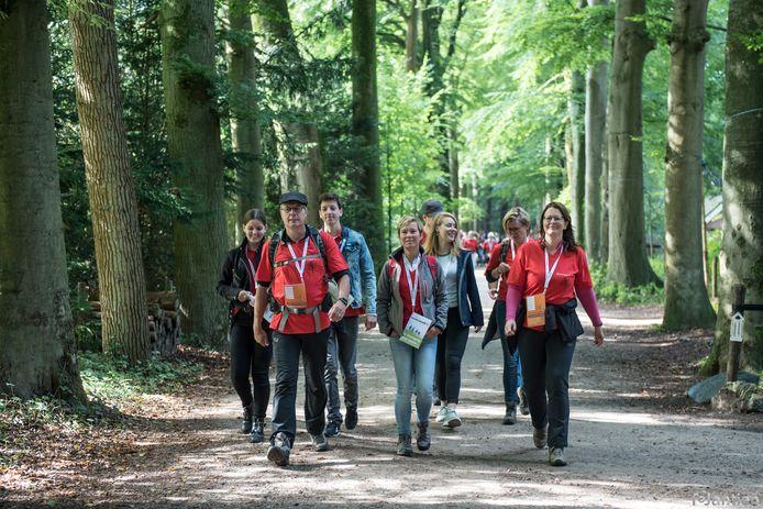 De Reuma Walk voerde door de bossen bij Putten.