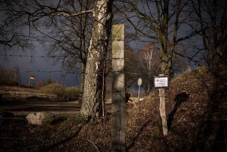 Op deze schietbaan in Güstrow, een dorp in de noord-oostelijke hoek van Duitsland, kwamen de leden van Nordkreuz samen. Beeld NYT