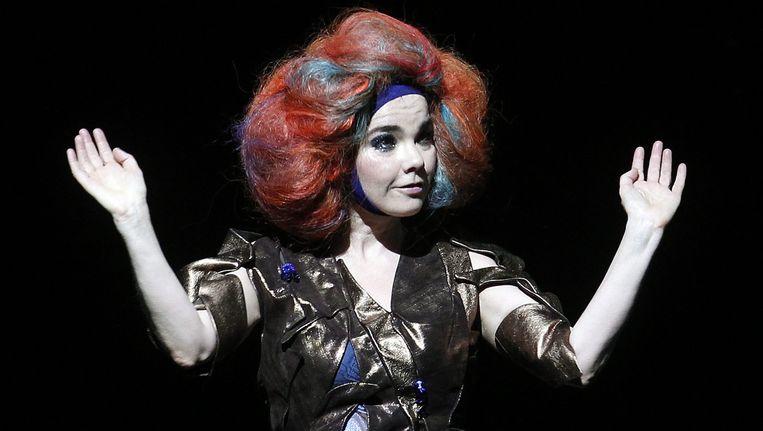 Björk op Lollapalooza in Chili in maart 2012. Beeld EPA