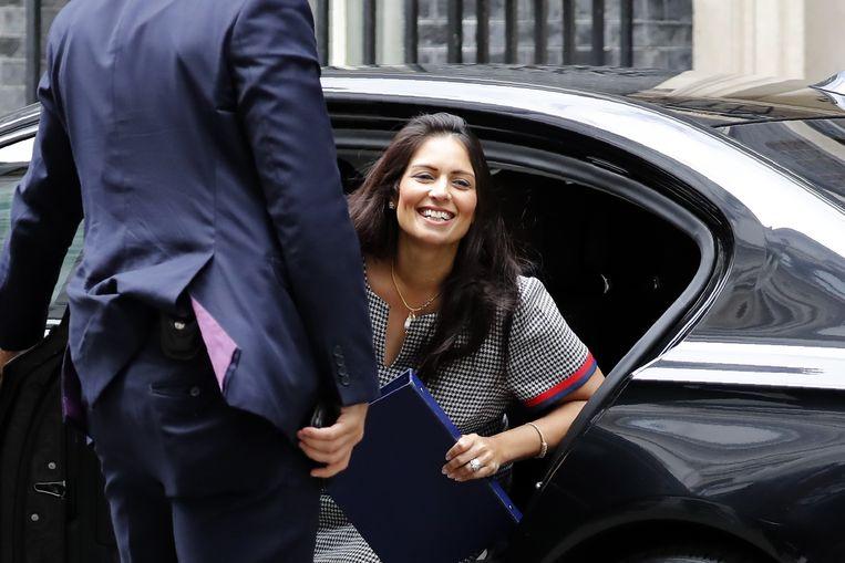 Priti Patel, de Britse minister van Binnenlandse Zaken. Beeld AFP