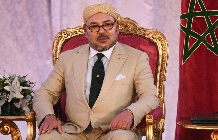 Koning Mohammed VI van Marokko.  Beeld AFP
