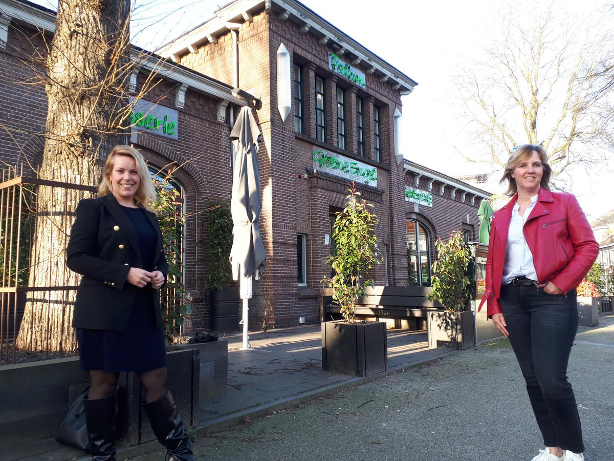 De twee vrouwen die de nieuwe organisatie van de Groene Engel vormgeven: kwartiermaker Esther Plante (links) en voorzitter Corine Goossens.